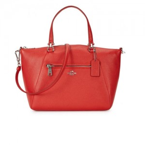 Coach-Prairie-red-grained-leather--tote-front
