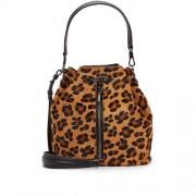 Elizabeth-and-James-Cynnie-Leopard-Calf-Hair-Bucket-Bag-Front