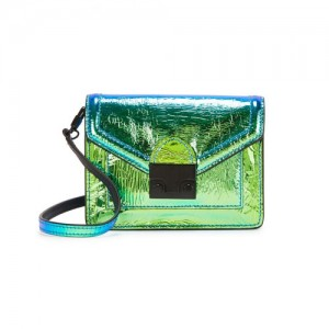 Loeffler-Randall-Baby-Rider-Green-Iridescent-Cross-Body-Bag-Front