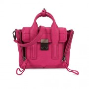 Phillip-Lim-Pashli-Mini-fuchsia-leather-satchel-front