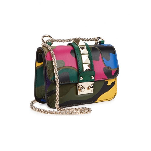 Valentino Camo Shoulder Bag