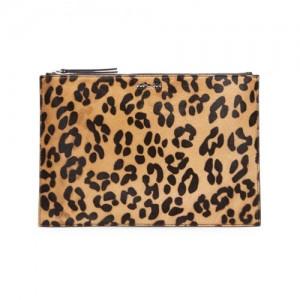 Alexandra-McQueen-Kicks-Leopard-Print-Calf-Hair-Clutch-Bag