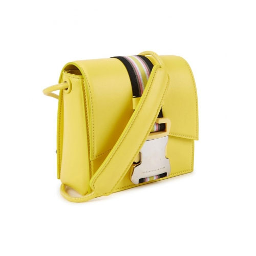 Christopher Kane Safety Buckle Mini Bright Yellow Cross-Body Bag