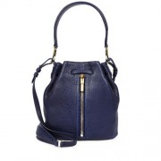 Elizabeth-And-James-Gynnie-Mini-Navy-Leather-Bucket-Bag-Front