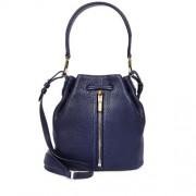 Elizabeth-And-James-Gynnie-Mini-Navy-Leather-Bucket-Bag-Front