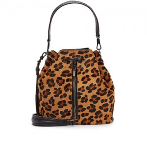 Elizabeth-and-James-Cynnie-Leopard-Calf-Hair-Bucket-Bag-Front