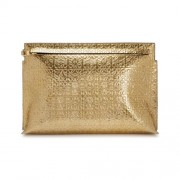 Loewe-Large-gold-embossed-leather-pouch-front