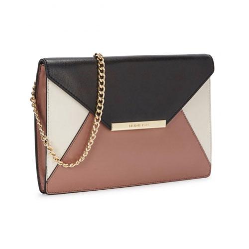 Michael Kors Lana Colour Block Leather Clutch