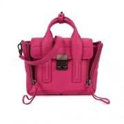 Phillip-Lim-Pashli-Mini-fuchsia-leather-satchel-front