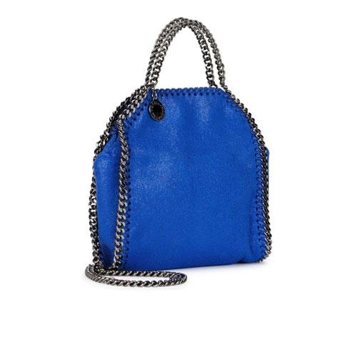 Stella McCartney Falabella Tiny Bright Blue Shoulder Bag